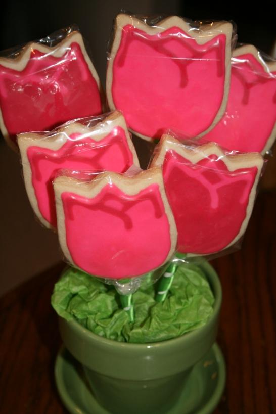 Tulips in a Flower Pot