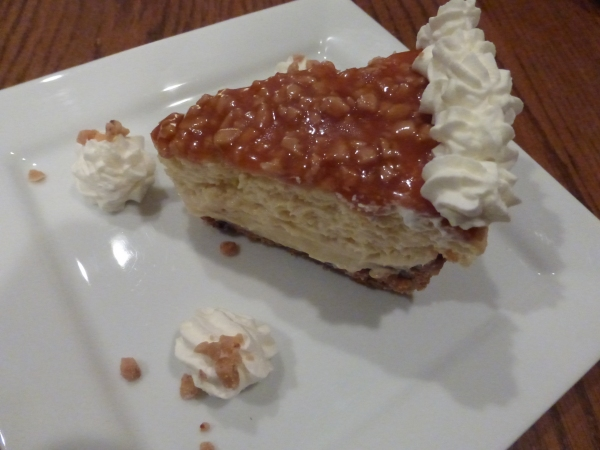 Toffee Crunch Cheesecake Slice