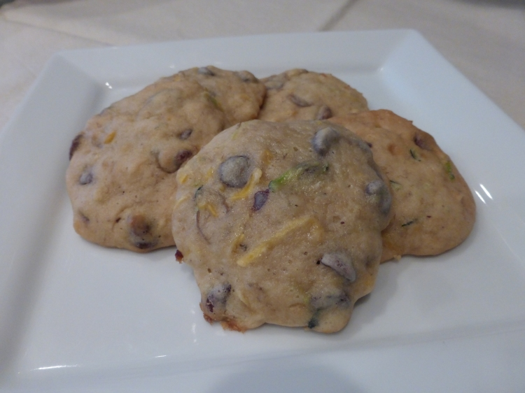 Banana Chocolate Chip Zucchini Cookies